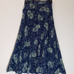 Liz Claiborne Floral A Line Skirt Size 6